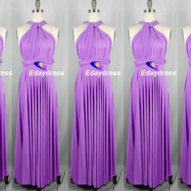 Maxi full length bridesmaid infinity dress convertible wrap dress multi way long dresses lilac infinity dress