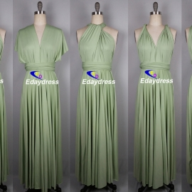 Maxi full length bridesmaid infinity dress convertible wrap dress multiway long dresses light olive infinity dress