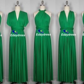 Maxi full length bridesmaid infinity dress convertible wrap dress multi way long dresses emerald green infinity dress