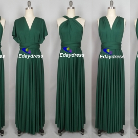 Maxi full length bridesmaid infinity dress convertible wrap dress multi way long dresses ever green infinity dress