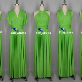 Maxi full length bridesmaid infinity dress convertible wrap dress multi way long dresses jasmine green infinity dress