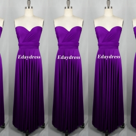 Maxi full length bridesmaid infinity dress convertible wrap dress multi way long dresses darker purple infinity dress