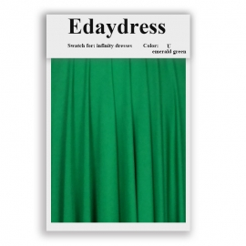 Fabric swatch for infinity dresses infinity bridesmaid dresses for ties and bows color u emerald green