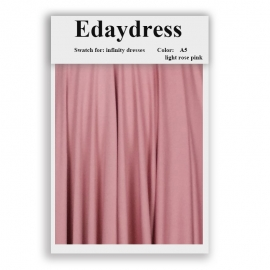 Fabric swatch for infinity dresses infinity bridesmaid dresses for ties and bows color a5 light rose pink