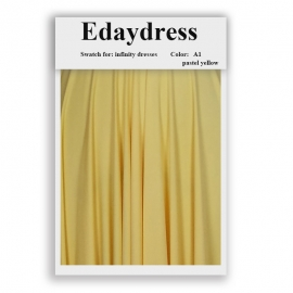 Fabric swatch for infinity dresses infinity bridesmaid dresses for ties and bows color a1 pastel yellow