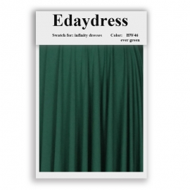 Fabric swatch for infinity dresses infinity bridesmaid dresses for ties and bows color hw46 ever green