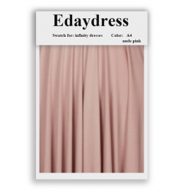 Fabric swatch for infinity dresses infinity bridesmaid dresses for ties and bows color a4 nude pink
