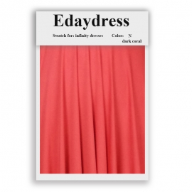 Fabric swatch for infinity dresses infinity bridesmaid dresses for ties and bows color n darker coral