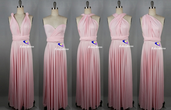1f930c46cec Maxi full length bridesmaid infinity dress convertible wrap dress multi way  long dresses light pink infinity dress Style No  INS881D